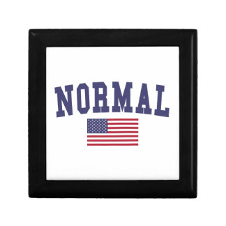 Normal US Flag Keepsake Box
