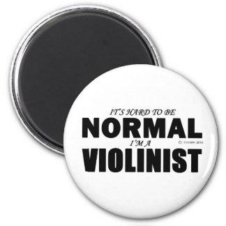 Normal Violinist 2 Inch Round Magnet