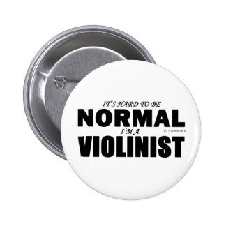 Normal Violinist Pinback Buttons