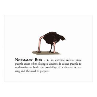 Normalcy Bias Postcard
