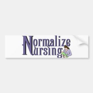 Normalice el oficio de enfermera etiqueta de parachoque