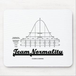 Normalidad del equipo humor de las estadísticas d tapete de ratones