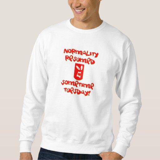 Normalidad reanudada pulóver sudadera