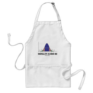 Normality Eludes Me (Bell Curve Humor) Adult Apron
