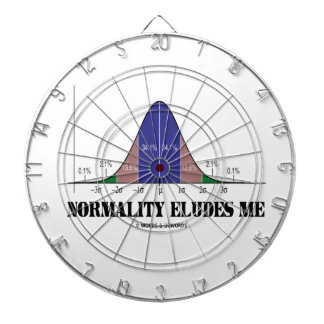 Normality Eludes Me (Bell Curve Humor) Dart Board