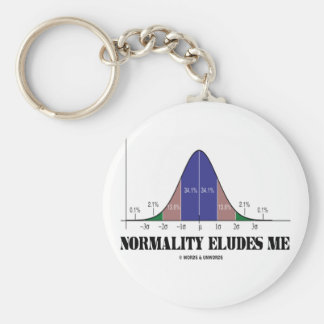 Normality Eludes Me (Bell Curve Humor) Keychain