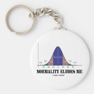 Normality Eludes Me Bell Curve Humor Keychain