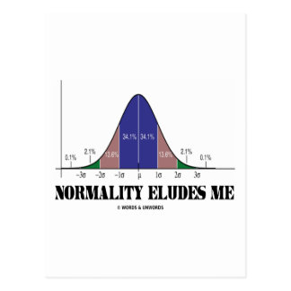 Normality Eludes Me (Bell Curve Humor) Postcards