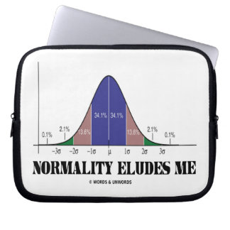 Normality Eludes Me (Statistics Humor) Laptop Sleeves