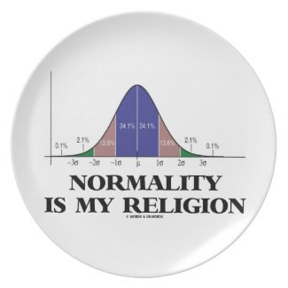 Normality Is My Religion (Bell Curve Humor) Plates