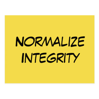 """Normalize Integrity"" - Write Your Senator Postcard"