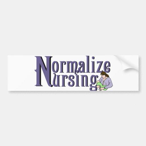 Normalize Nursing Bumper Sticker