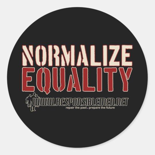 NormalizeEquality, . Classic Round Sticker