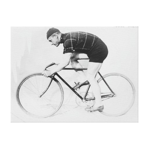 Norman Anderson Side View of Racing Bicycle Stretched Canvas Print