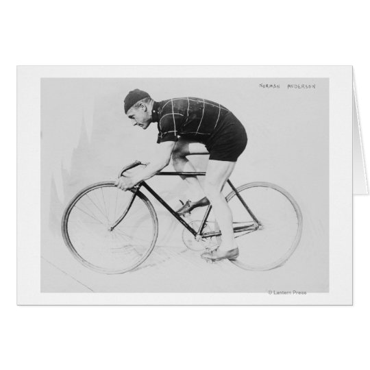 Norman Anderson Side View of Racing Bicycle Card