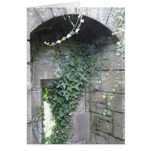 Norman arch window greeting card