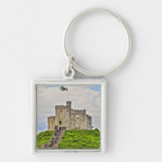 Norman-built Medieval Cardiff Castle, Wales Keychains