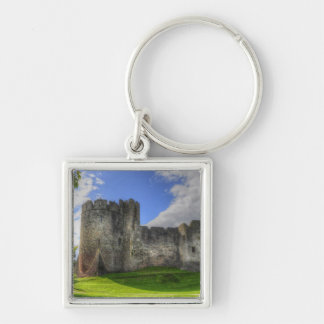 Norman-built Medieval Chepstow Castle, Wales Keychain