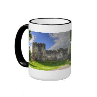 Norman Chepstow Castle Ruins of Wales, UK Ringer Mug