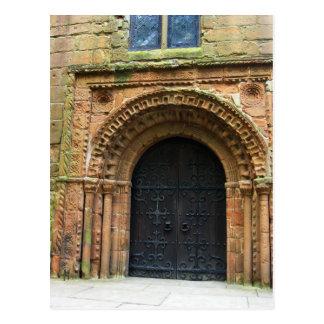Norman church door postcard