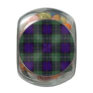 Norman clan Plaid Scottish kilt tartan Glass Candy Jar