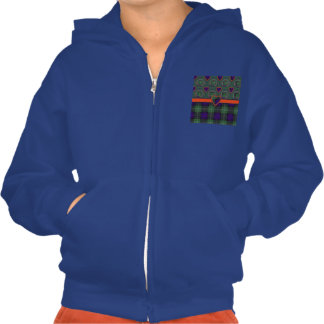 Norman clan Plaid Scottish kilt tartan Hooded Pullover