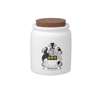 Norman Family Crest Candy Jar