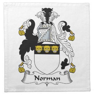 Norman Family Crest Cloth Napkin