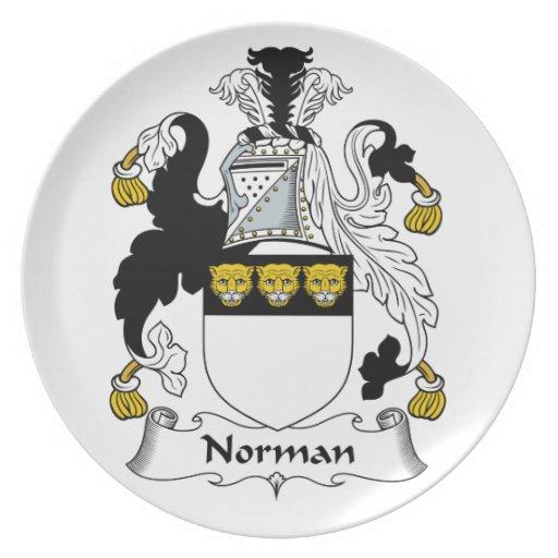 Norman Family Crest Dinner Plate