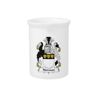 Norman Family Crest Drink Pitcher