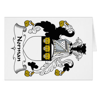 Norman Family Crest Greeting Card