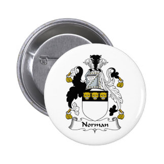 Norman Family Crest Pinback Buttons