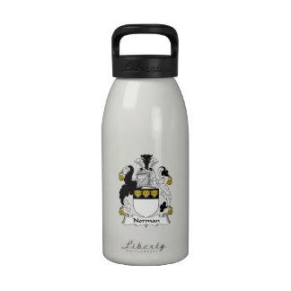 Norman Family Crest Reusable Water Bottle