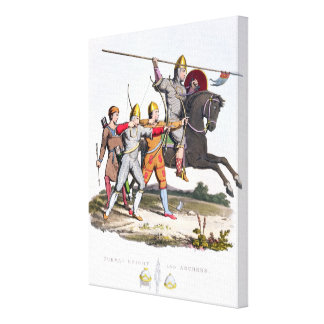 Norman Knight and Archers, 1066, from 'Ancient Arm Canvas Print