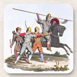 Norman Knight and Archers, 1066, from 'Ancient Arm Coaster