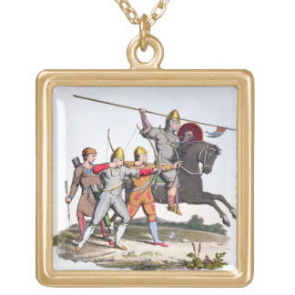 Norman Knight and Archers, 1066, from 'Ancient Arm Gold Plated Necklace