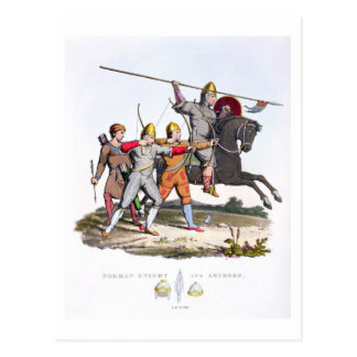 Norman Knight and Archers, 1066, from 'Ancient Arm Postcard