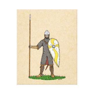 Norman Knight, Circa 1066 Canvas Print