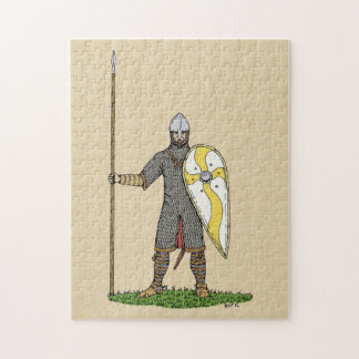 Norman Knight, Circa 1066 Jigsaw Puzzle