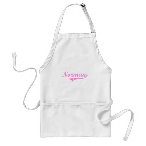 Norman Last Name Classic Style Aprons