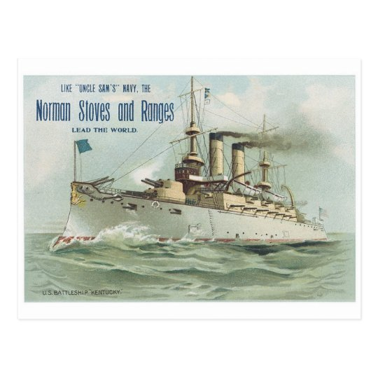 Norman Stoves and Ranges Ship Postcard