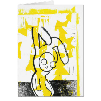 Norman the Bunny Greeting Card (yellow)