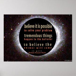 Norman Vincent Peale Positive Quote Poster