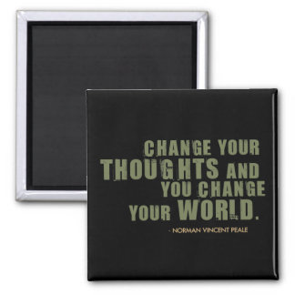 Norman Vincent Peale Quote 2 Inch Square Magnet
