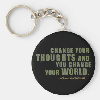 Norman Vincent Peale Quote Basic Round Button Keychain