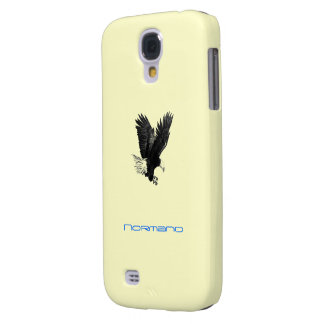 Normand Yellow Galaxy s4 case with American Eagle