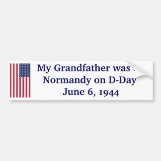 Normandía en día D Pegatina Para Auto