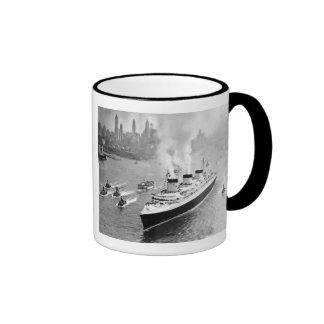 Normandie and Tugs Ringer Coffee Mug
