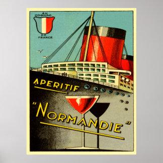 normandie aperitif poster