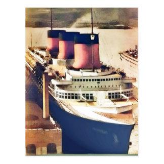 Normandie at NYC Postcard
